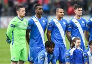 11 August 2017; Ibrahim Keita of Finn Harps, second from left, in the team picture before the Irish Daily Mail FAI Cup First Round match between Finn Harps and Bohemians at Finn Park in Ballybofey, Donegal. Photo by Oliver McVeigh/Sportsfile