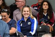 12 August 2017; Injured Ireland rugby captain and former Waterford ladies footballer, Niamh Briggs, watches her native county in action against Dublin during the TG4 Ladies Football All-Ireland Senior Championship Quarter-Final match between Dublin and Waterford at Nowlan Park in Kilkenny. Photo by Matt Browne/Sportsfile