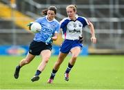 12 August 2017; Lyndesy Davey of Dublin in action against Roisin Tobin of Waterford during the TG4 Ladies Football All-Ireland Senior Championship Quarter-Final match between Dublin and Waterford at Nowlan Park in Kilkenny. Photo by Matt Browne/Sportsfile