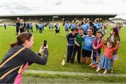 12 August 2017; Edel Leahy from Dublin takes a picture of her daughters 6 year old Karen, 8 year old Aoife and 3 year old Jane and nephews 10 year old Paddy and 7 year old Joe Osborne with Niamh McEvoy of Dublin after the TG4 Ladies Football All-Ireland Senior Championship Quarter-Final match between Dublin and Waterford at Nowlan Park in Kilkenny. Photo by Matt Browne/Sportsfile