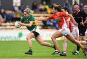 12 August 2017; Laura Rogers of Kerry in action against Sharon Reel of Armagh during the TG4 Ladies Football All-Ireland Senior Championship Quarter-Final match between Kerry and Armagh at Nowlan Park in Kilkenny. Photo by Matt Browne/Sportsfile