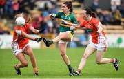 12 August 2017; Sarah Houlihan of Kerry in action against Niamh Coleman, left, and Sarah Marley of Armagh during the TG4 Ladies Football All-Ireland Senior Championship Quarter-Final match between Kerry and Armagh at Nowlan Park in Kilkenny. Photo by Matt Browne/Sportsfile