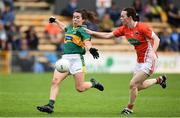 12 August 2017; Sarah Houlihan of Kerry in action against Sarah Marley of Armagh during the TG4 Ladies Football All-Ireland Senior Championship Quarter-Final match between Kerry and Armagh at Nowlan Park in Kilkenny. Photo by Matt Browne/Sportsfile