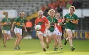 12 August 2017; Lauren McConville of Armagh in action against Kerry during the TG4 Ladies Football All-Ireland Senior Championship Quarter-Final match between Kerry and Armagh at Nowlan Park in Kilkenny. Photo by Matt Browne/Sportsfile