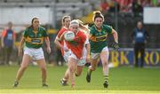12 August 2017; Lauren McConville of Armagh in action against Aisling O'Connell of Kerry during the TG4 Ladies Football All-Ireland Senior Championship Quarter-Final match between Kerry and Armagh at Nowlan Park in Kilkenny. Photo by Matt Browne/Sportsfile