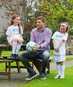 It's a Goal! Steven Gerrard on hand for MACE Announcement that Irish Autism Action is Official Charity Partner Liverpool FC captain, Steven Gerrard, was on hand when MACE announced Irish Autism Action (IAA) as its official charity partner for 2012/2013, in which the neighbourhood and forecourt store network has set out to raise €100,000 for the Irish charity. To coincide with IAA's 'Steven Gerrard & Keith Duffy Charity Weekend' in partnership with MACE, there will be a MACE Golden Ticket competition, giving one lucky Irish child the chance to meet the football star at Tallaght Stadium on 7 July 2012. Competition details are available at www.mace.ie and donations can be made at www.autismireland.ie. Pictured with Steven are Fionn, Eva and Aisling Marriott. RTÉ Studios, Donnybrook, Dublin. Picture credit: Brendan Moran / SPORTSFILE