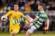 11 August 2017; Dean Dillon of Shamrock Rovers in action against Philip Duffy of Glenville during the Irish Daily Mail FAI Cup first round match between Shamrock Rovers and Glenville at Tallaght Stadium in Tallaght, Dublin. Photo by Matt Browne/Sportsfile