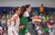 12 August 2017; Dayna Finn of Ireland in action against Barbara Zieniewska of Poland during the FIBA U18 Women's European Basketball Championships match between Ireland and Poland at National Basketball Arena in Tallaght, Dublin. Photo by David Fitzgerald/Sportsfile