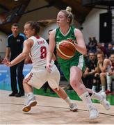 12 August 2017; Louise Scannell of Ireland in action against Natalia Klimek of Poland during the FIBA U18 Women's European Basketball Championships match between Ireland and Poland at National Basketball Arena in Tallaght, Dublin. Photo by David Fitzgerald/Sportsfile