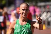 13 August 2017; Robert Heffernan of Ireland reacts after crossing the finish line of the Men's 50km Race Walk final during day ten of the 16th IAAF World Athletics Championships at The Mall in London, England. Photo by Stephen McCarthy/Sportsfile
