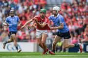 13 August 2017; Brian Turnbull of Cork in action against Lee Gannon of Dublin during the Electric Ireland GAA Hurling All-Ireland Minor Championship Semi-Final match between Dublin and Cork at Croke Park in Dublin. Photo by Ray McManus/Sportsfile