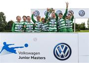 13 August 2017; Evergreen FC players celebrate with the cup after the Volkswagen Junior Masters event - Day 2 in the AUL Complex Dublin. Now in its fourth year, the tournament has grown into one of the most prestigious under age soccer tournaments in Ireland with the wining club receiving €2,500 from Volkswagen. Photo by Eóin Noonan/Sportsfile