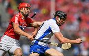 13 August 2017; Kevin Moran of Waterford is tackled by Bill Cooper of Cork during the GAA Hurling All-Ireland Senior Championship Semi-Final match between Cork and Waterford at Croke Park in Dublin.  Photo by Brendan Moran/Sportsfile