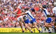 13 August 2017; Darragh Fitzgibbon of Cork is blocked by Waterford players Pauric Mahony, Kevin Moran and Philip Mahony during the GAA Hurling All-Ireland Senior Championship Semi-Final match between Cork and Waterford at Croke Park in Dublin.  Photo by Brendan Moran/Sportsfile