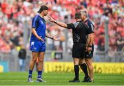 13 August 2017; Referee James Owens speaks to selectors Dan Shanahan, left, of Waterford and Diarmuid O'Sullivan of Cork during the GAA Hurling All-Ireland Senior Championship Semi-Final match between Cork and Waterford at Croke Park in Dublin.  Photo by Brendan Moran/Sportsfile