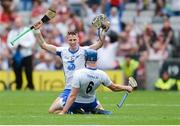 13 August 2017; Maurice Shanahan, behind, and Austin Gleeson of Waterford celebrate after the GAA Hurling All-Ireland Senior Championship Semi-Final match between Cork and Waterford at Croke Park in Dublin.  Photo by Piaras Ó Mídheach/Sportsfile