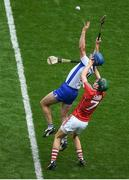 13 August 2017; Michael Walsh of Waterford in action against Mark Coleman of Cork during the GAA Hurling All-Ireland Senior Championship Semi-Final match between Cork and Waterford at Croke Park in Dublin. Photo by Daire Brennan/Sportsfile