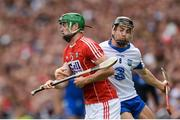 13 August 2017; Seamus Harnedy of Cork in action against Jamie Barron of Waterford during the GAA Hurling All-Ireland Senior Championship Semi-Final match between Cork and Waterford at Croke Park in Dublin. Photo by Piaras Ó Mídheach/Sportsfile