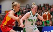 13 August 2017; Louise Scannell of Ireland in action against Jessika Schiffer of Germany during the FIBA U18 Women's European Basketball Championships Final between Ireland and Germany at the National Basketball Arena in Tallaght, Dublin.  Photo by Brendan Moran/Sportsfile