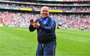 13 August 2017; Waterford manager Derek McGrath celebrates after his side's fourth goal during the GAA Hurling All-Ireland Senior Championship Semi-Final match between Cork and Waterford at Croke Park in Dublin.  Photo by Brendan Moran/Sportsfile