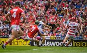13 August 2017; Jamie Barron of Waterford shoots past Mark Coleman and goalkeeper Anthony Nash of Cork to score a goal in the second half of the GAA Hurling All-Ireland Senior Championship Semi-Final match between Cork and Waterford at Croke Park in Dublin.  Photo by Ray McManus/Sportsfile
