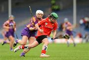 6 May 2012; Julia White, Cork, in action against Karen Atkinson, Wexford. National Camogie League, Division 1 Final, Cork v Wexford, Semple Stadium, Thurles, Co. Tipperary. Picture credit: Gareth Williams / SPORTSFILE