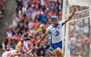 13 August 2017; Austin Gleeson of Waterford celebrates scoring a goal in the 60th minute during the GAA Hurling All-Ireland Senior Championship Semi-Final match between Cork and Waterford at Croke Park in Dublin.  Photo by Ray McManus/Sportsfile