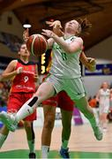 13 August 2017; Louise Scannell of Ireland is fouled by Paula Kohl of Germany during the FIBA U18 Women's European Basketball Championships Final between Ireland and Germany at the National Basketball Arena in Tallaght, Dublin.  Photo by Brendan Moran/Sportsfile