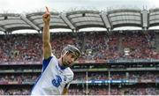 13 August 2017; Jamie Barron of Waterford celebrates scoring his side's second goal during the GAA Hurling All-Ireland Senior Championship Semi-Final match between Cork and Waterford at Croke Park in Dublin. Photo by Piaras Ó Mídheach/Sportsfile