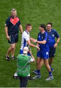 13 August 2017; Waterford selector Dan Shanahan and his brother Maurice celebrate after the GAA Hurling All-Ireland Senior Championship Semi-Final match between Cork and Waterford at Croke Park in Dublin. Photo by Daire Brennan/Sportsfile