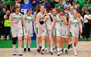 13 August 2017; The Ireland team after the FIBA U18 Women's European Basketball Championships Final between Ireland and Germany at the National Basketball Arena in Tallaght, Dublin. Photo by Brendan Moran/Sportsfile