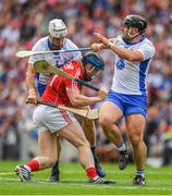 13 August 2017; Conor Lehane of Cork is tackled by Shane Fives and Noel Connors of Waterford during the GAA Hurling All-Ireland Senior Championship Semi-Final match between Cork and Waterford at Croke Park in Dublin. Photo by Ray McManus/Sportsfile