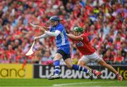 13 August 2017; Stephen O'Keeffe of Waterford in action against Alan Cadogan of Cork during the GAA Hurling All-Ireland Senior Championship Semi-Final match between Cork and Waterford at Croke Park in Dublin. Photo by Ray McManus/Sportsfile