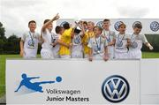 13 August 2017; Belvedere FC players celebrate with the cup after winning the Volkswagen Junior Masters event - Day 2 in the AUL Complex Dublin. Now in its fourth year, the tournament has grown into one of the most prestigious under age soccer tournaments in Ireland with the wining club receiving €2,500 from Volkswagen. Photo by Eóin Noonan/Sportsfile