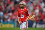 13 August 2017; Daithí Colton, Gaelscoil Uí Néill, Co Tyrone, representing Cork, during the INTO Cumann na mBunscol GAA Respect Exhibition Go Games at half time during the GAA Hurling All-Ireland Senior Championship Semi-Final match between Cork and Waterford at Croke Park in Dublin. Photo by Brendan Moran/Sportsfile
