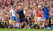 13 August 2017; Conor Gleeson of Waterford, with manager Derek McGrath, and Patrick Horgan of Cork leave the field after being sent by referee James Owens late in the game during the GAA Hurling All-Ireland Senior Championship Semi-Final match between Cork and Waterford at Croke Park in Dublin. Photo by Piaras Ó Mídheach/Sportsfile
