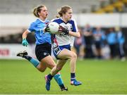 12 August 2017; Katie Murray of Waterford in action against Martha Byrne of Dublin during the TG4 Ladies Football All-Ireland Senior Championship Quarter-Final match between Dublin and Waterford at Nowlan Park in Kilkenny. Photo by Matt Browne/Sportsfile