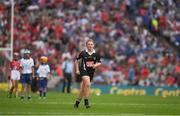 13 August 2017; Referee Áisling Conneely, St. Vincent's NS, Turloughmore, Co Galway, during the INTO Cumann na mBunscol GAA Respect Exhibition Go Games at half time during the GAA Hurling All-Ireland Senior Championship Semi-Final match between Cork and Waterford at Croke Park in Dublin. Photo by Ray McManus/Sportsfile
