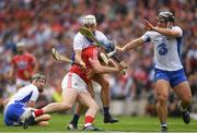 13 August 2017; Conor Lehane of Cork is taqckled by Shane Fives and Noel Connors of Waterford during the GAA Hurling All-Ireland Senior Championship Semi-Final match between Cork and Waterford at Croke Park in Dublin. Photo by Ray McManus/Sportsfile