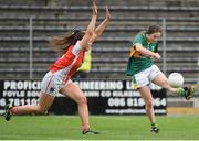 12 August 2017; Hannah O'Donoghue of Kerry in action against Clodagh McCambridge of Armagh during the TG4 Ladies Football All-Ireland Senior Championship Quarter-Final match between Kerry and Armagh at Nowlan Park in Kilkenny. Photo by Matt Browne/Sportsfile