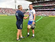13 August 2017; Cork selector Diarmuid O'Sullivan, left, with Maurice Shanahan of Waterford after the GAA Hurling All-Ireland Senior Championship Semi-Final match between Cork and Waterford at Croke Park in Dublin. Photo by Brendan Moran/Sportsfile