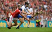 13 August 2017; Jamie Barron of Waterford in action against Mark Ellis of Cork during the GAA Hurling All-Ireland Senior Championship Semi-Final match between Cork and Waterford at Croke Park in Dublin. Photo by Piaras Ó Mídheach/Sportsfile