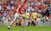 13 August 2017; Damien Cahalane of Cork leaves the field after being shown the red card by referee James Owens after picking up a second yellow card during the GAA Hurling All-Ireland Senior Championship Semi-Final match between Cork and Waterford at Croke Park in Dublin. Photo by Piaras Ó Mídheach/Sportsfile
