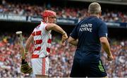 13 August 2017; Anthony Nash of Cork with selector Diarmuid O'Sullivan during the GAA Hurling All-Ireland Senior Championship Semi-Final match between Cork and Waterford at Croke Park in Dublin. Photo by Piaras Ó Mídheach/Sportsfile