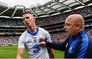 13 August 2017; Maurice Shanahan of Waterford with manager Derek McGrath after the GAA Hurling All-Ireland Senior Championship Semi-Final match between Cork and Waterford at Croke Park in Dublin. Photo by Piaras Ó Mídheach/Sportsfile