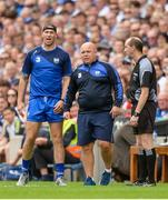 13 August 2017; Waterford selector Dan Shanahan, left, and manager Derek McGrath alongside fourth official Justin Heffernan during the GAA Hurling All-Ireland Senior Championship Semi-Final match between Cork and Waterford at Croke Park in Dublin. Photo by Piaras Ó Mídheach/Sportsfile