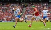 13 August 2017; Noel Connors of Waterford passes under pressure from Alan Cadogan of Cork during the GAA Hurling All-Ireland Senior Championship Semi-Final match between Cork and Waterford at Croke Park in Dublin. Photo by Piaras Ó Mídheach/Sportsfile