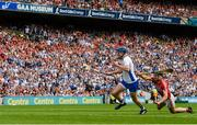 13 August 2017; Austin Gleeson of Waterford gets past Mark Ellis of Cork on his way to scoring his side's third goal during the GAA Hurling All-Ireland Senior Championship Semi-Final match between Cork and Waterford at Croke Park in Dublin. Photo by Piaras Ó Mídheach/Sportsfile