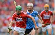 13 August 2017; Brian Turnbull of Cork in action against Luke Walsh of Dublin during the Electric Ireland GAA Hurling All-Ireland Minor Championship Semi-Final match between Dublin and Cork at Croke Park in Dublin. Photo by Piaras Ó Mídheach/Sportsfile