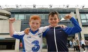 13 August 2017; Waterford supporters Mícheál Cooper, age 9, left, and Phys Bracken, age 8, before the GAA Hurling All-Ireland Senior Championship Semi-Final match between Cork and Waterford at Croke Park in Dublin. Photo by Piaras Ó Mídheach/Sportsfile